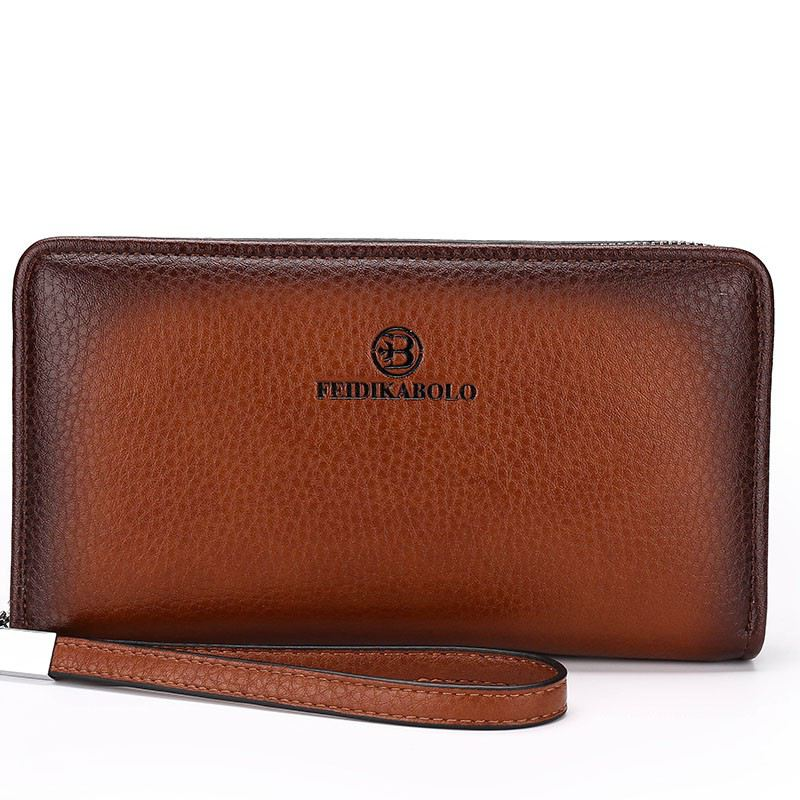 2017 Luxury Male Leather Purse Men's Clutch Wallets Handy Bags Business Carteras Mujer Wallets Men Black Brown Dollar Price